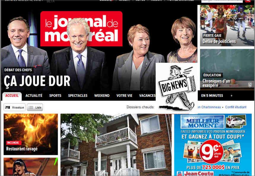 Canada - Watch-Canadian-Newspapers-Online-for-Free - Le Journal de Montréal