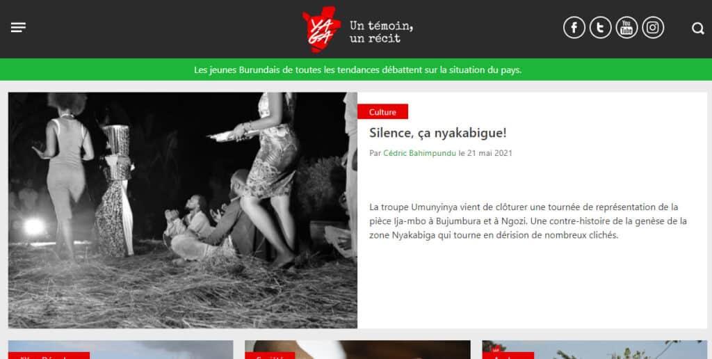 noticias-today.com-cover of digital newspapers: Yaga-Burundi