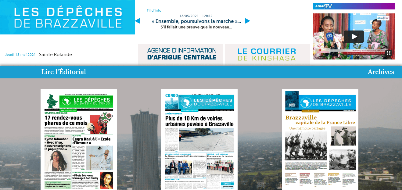 Latest Local and World News in Congo-Les-Depeches