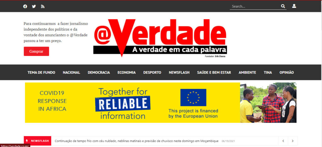 Latest Local and World News in Mozambique - Verdade