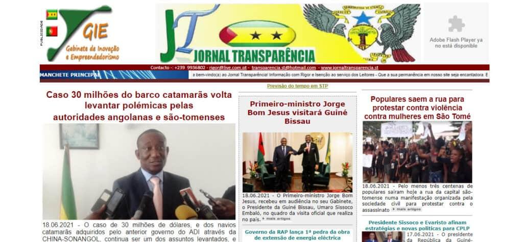Latest Local and World News in São Tomé and Príncipe - Jornal Transparencia