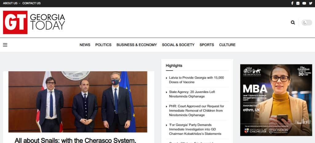 Latest Regional and World News in Georgia - Georgia Today