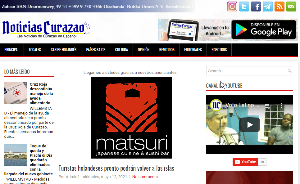 Latest Local and World News in Curacao-Noticias Curazao