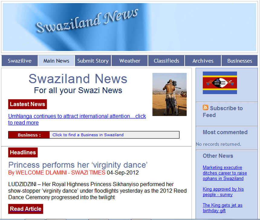 Latest Local and World News in Swaziland - The Swaziland news