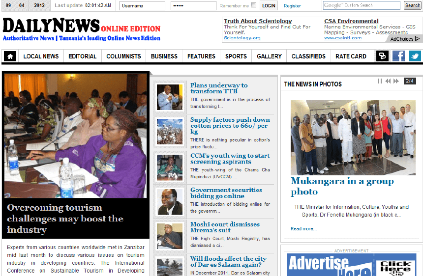 Latest Local and World News in Tanzania - Daily News
