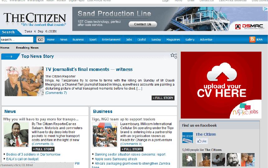 Latest Local and World News in Tanzania - Citizen