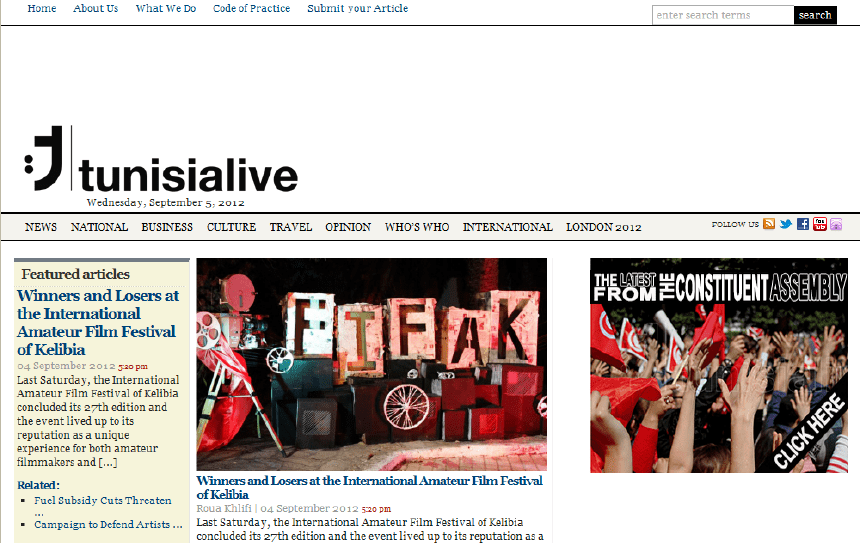 Latest Local and World News in Tunisia - Tunisialive- Out of Circulation