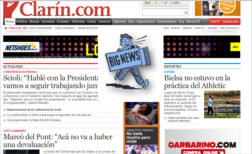 What's the Latest News from Argentina-Clarin