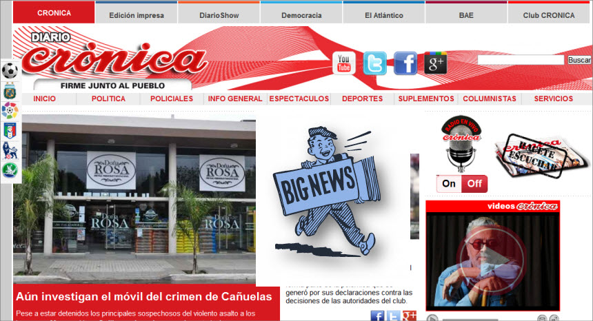 What's the Latest News from Argentina - Cronica