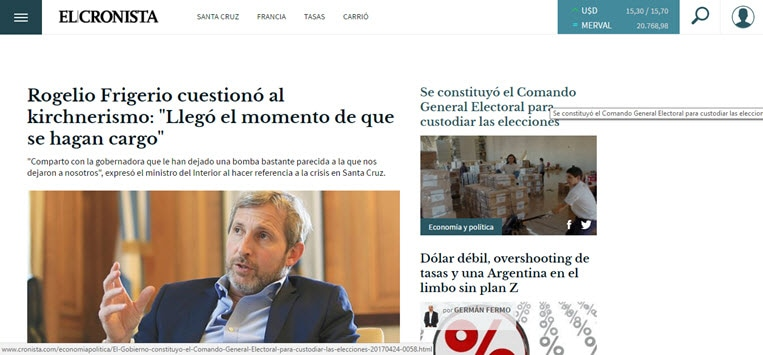 What's the Latest News from Argentina - El Cronista