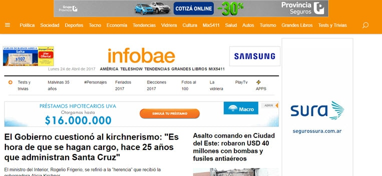 What's the Latest News from Argentina - Infobae