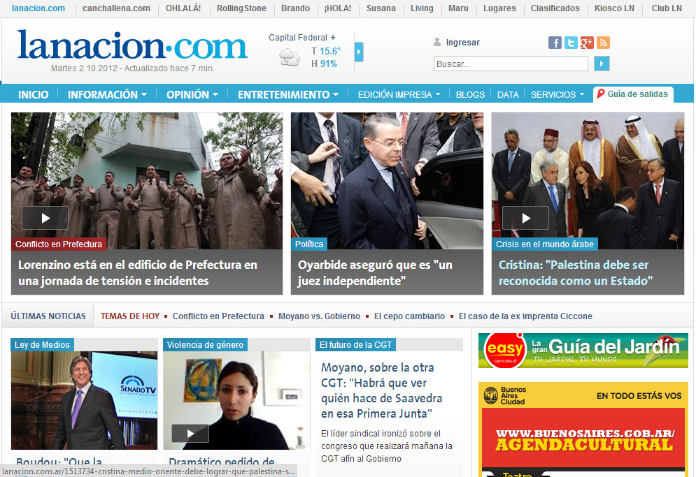 What's the Latest News from Argentina- La Nacion