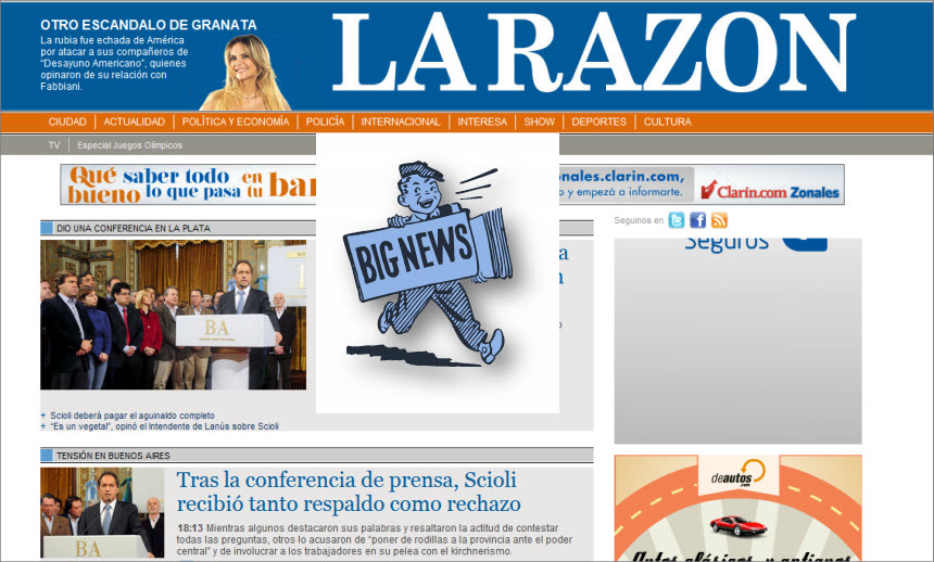 What's the Latest News from Argentina - La Razon- Out of Circulation