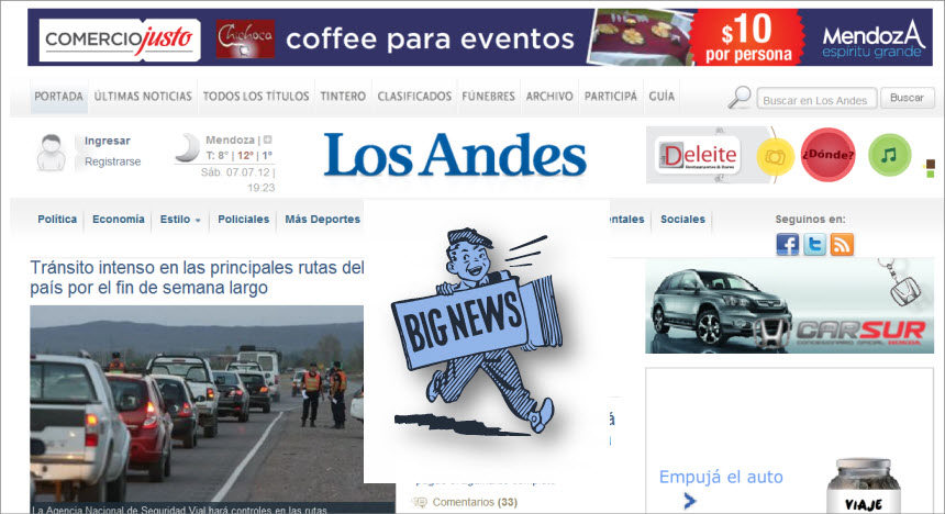What's the Latest News from Argentina - Los Andes