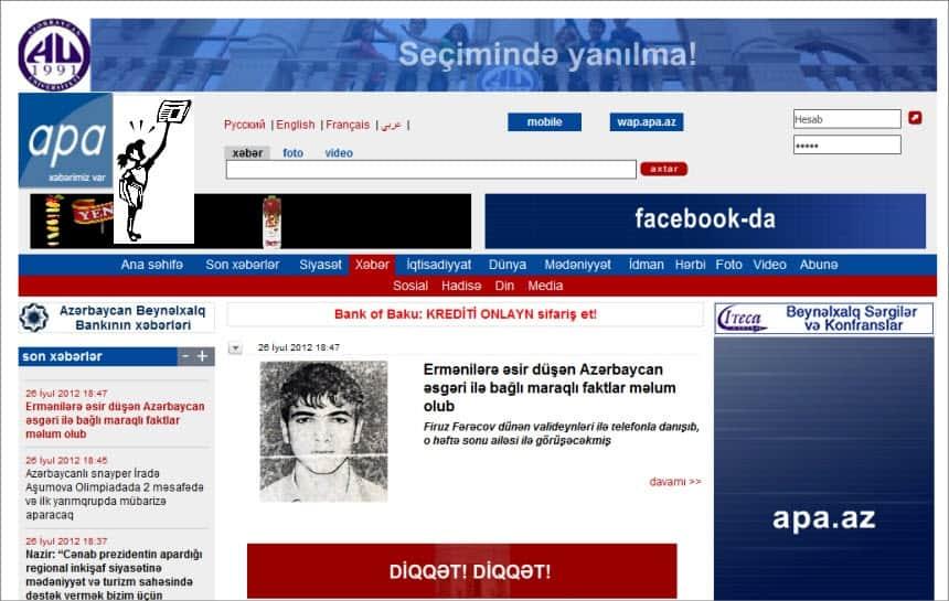 Latest World and Regional News in Azerbaijan - The Azerbaijan Press Agency (APA)