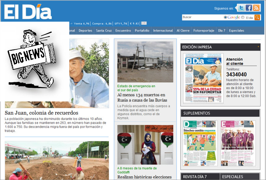 Latest World and National News in Bolivia