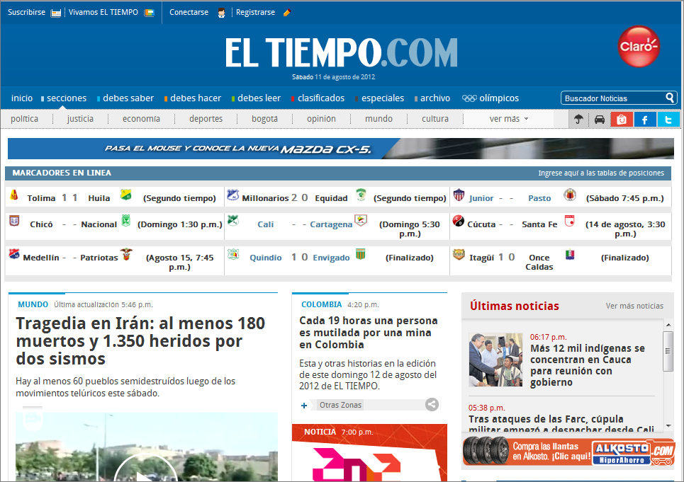 The Latest World and Regional News in Colombia - El Tiempo