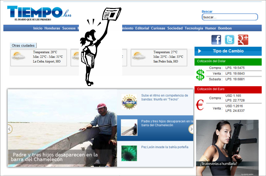 The Latest World and Regional News in Honduras - Newspaper Tiempo