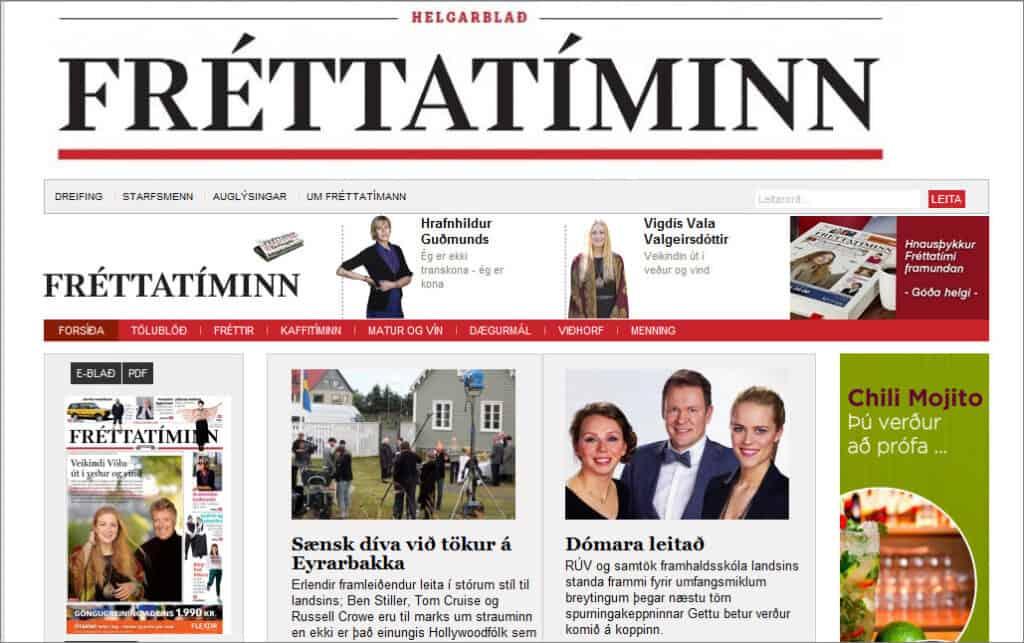 Latest World and Local News in Iceland - Newspaper Fréttablaðið
