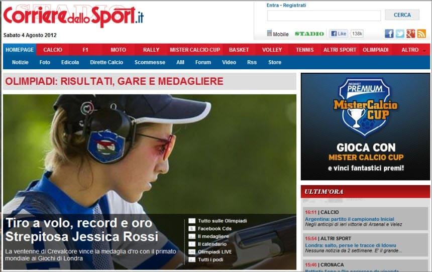 Latest World and Local News in Italy - Newspaper Corriere dello Sport – Stadio