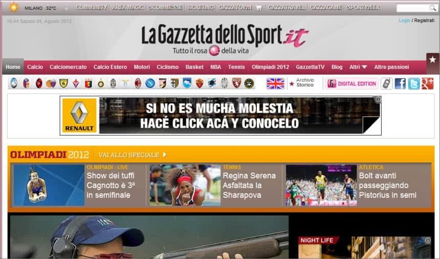 Latest World and Local News in Italy - Newspaper La Gazzetta dello Sport