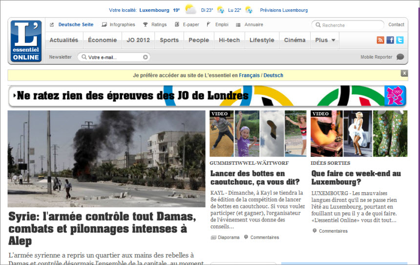 Latest World and Local News in Luxembourg - Newspaper L'essentiel