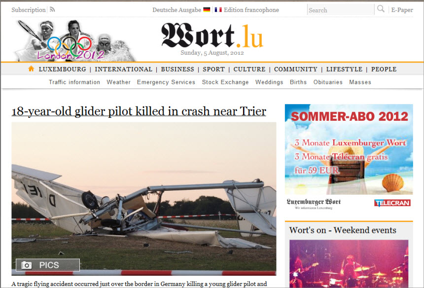 Latest World and Local News in Luxembourg - Newspaper Luxemburger Wort
