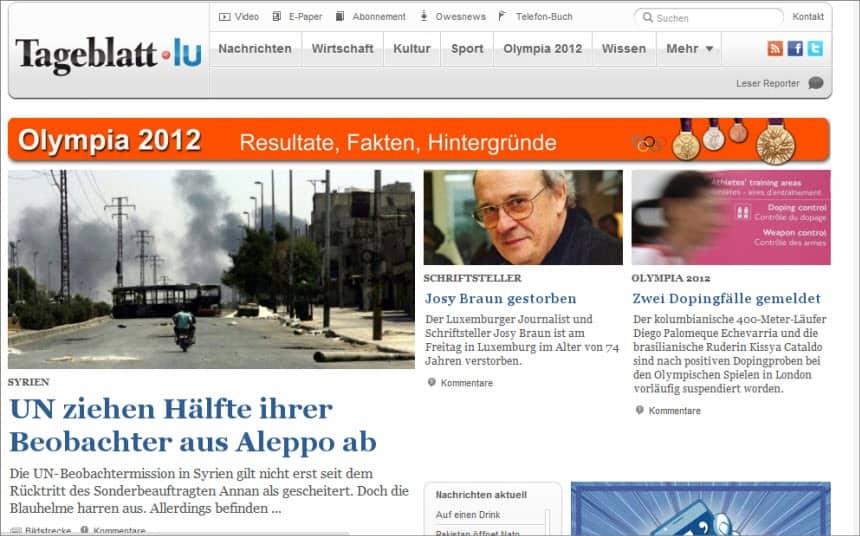 Latest World and Local News in Luxembourg - Newspaper Tageblatt