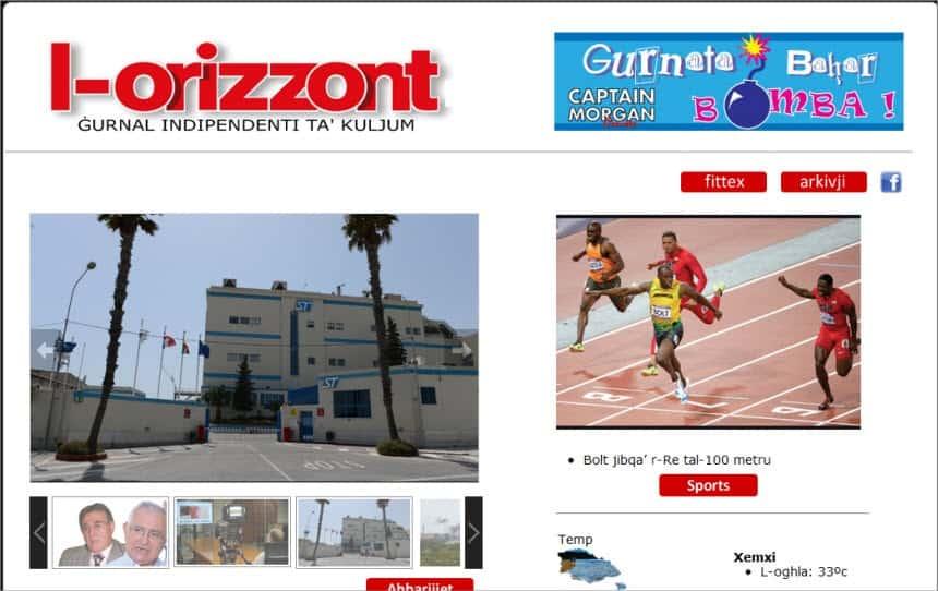 Latest World and Local News in Malta - Newspaper L-Orizzont