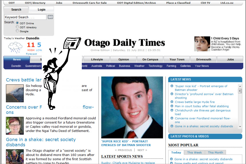 The Latest World and Regional News in New Zealand - Newspaper; The Otago Daily Times