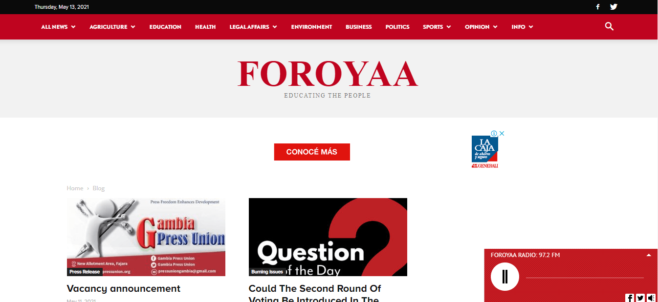Latest Local and World News in Gambia-Foroyaa