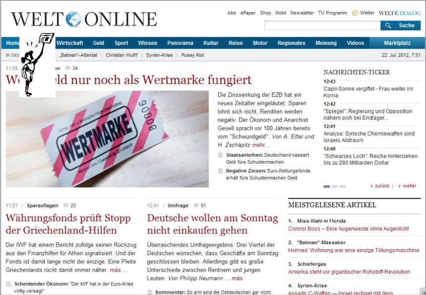 Latest World and Local News in Germany - Newspaper Die Welt
